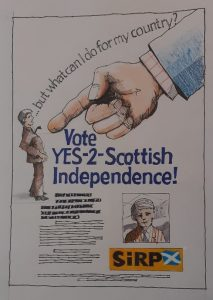 Campaign poster coming soon from Scotland's Independence Referendum Party
